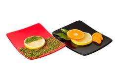 тарелки 2 Стоковые Изображения RF