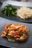 Тарелки Kimchi корейские бортовые Стоковые Изображения
