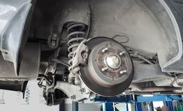 Тарельчатый тормоз автомобиля Стоковое фото RF