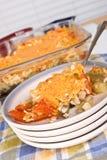 Тарелка еды сотейника баклажана Стоковые Фотографии RF