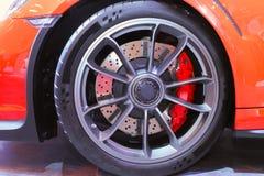 Тарельчатый тормоз большого диаметра в Sporty введенной в моду оправе Стоковое Изображение RF