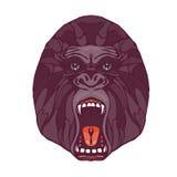 Татуировка гориллы рычать Стоковые Изображения