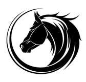 Татуировка круга лошади племенная. иллюстрация вектора