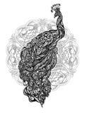 Татуировка павлина вектора Стоковая Фотография RF