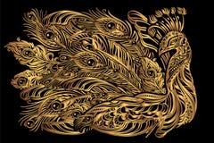 Татуировка павлина вектора Стоковое Фото