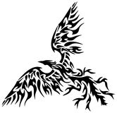 Татуировка племенной Феникс Стоковое Изображение RF