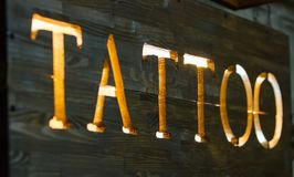 Татуировка слова Стоковые Изображения RF