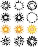 Татуировка Солнце иллюстрация штока