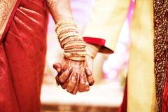 Татуировка хны, индийская невеста Стоковое Фото