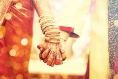Татуировка хны, индийская невеста Стоковое Изображение