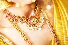 Татуировка хны, индийская невеста Стоковая Фотография