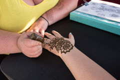 Татуировка хны Стоковое Фото