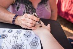 Татуировка хны Стоковая Фотография RF