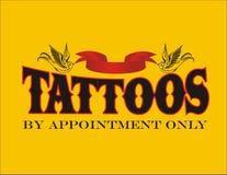Татуировки знаком назначения только Стоковое Изображение RF
