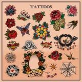 Татуировки, флористические, цветок Стоковая Фотография RF