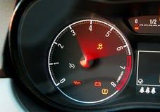 Тахометр автомобиля Стоковое Фото
