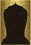 тахта золота конструкции традиционная Стоковая Фотография RF