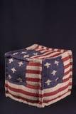 Тахта с американским флагом Стоковое Изображение