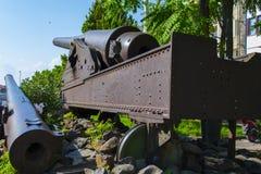Тахта ударяя оружие от 1-ой мировой войны смотрит вне к морю пролива gallipoli стоковые изображения rf