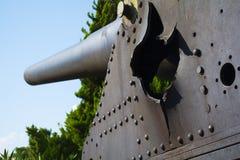 Тахта ударяя оружие от 1-ой мировой войны смотрит вне к проливу gallipoli стоковое изображение rf
