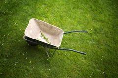 Тачка на предпосылке поля зеленой травы Стоковое Изображение RF