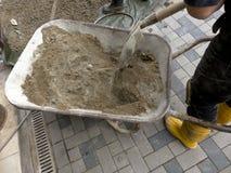 Тачка с цементом Стоковое фото RF