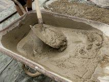 Тачка с цементом Стоковая Фотография