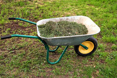 тачка травы сада Стоковая Фотография RF