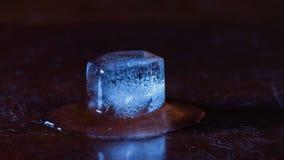 Таять льда куба Timelapse видеоматериал