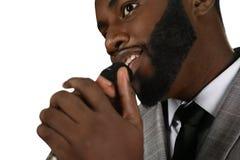 Талантливая черная певица стоковое изображение