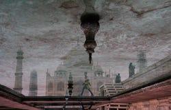 Тадж-Махал, отражение Стоковые Изображения