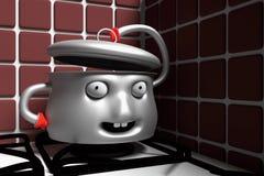 талисман бака 3D в кухне бесплатная иллюстрация