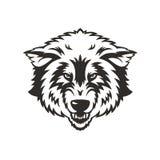 Талисман волка головной Стоковое Изображение RF