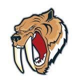 Талисман головы тигра Sabertooth иллюстрация штока