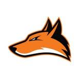 Талисман головы Fox иллюстрация вектора