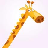 Талисман жирафа шаржа Иллюстрация вектора африканский усмехаться жирафа саванны бесплатная иллюстрация