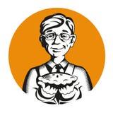 Талисман логотипа значка вектора хлебопека Стоковые Фотографии RF