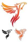 Талисман спорта Феникса ярлык логотип Стоковые Изображения RF