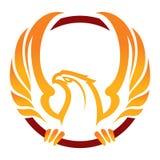 Талисман спорта Феникса ярлык логотип Стоковые Изображения