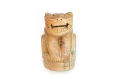 Талисман тигра деревянный Handmade Стоковая Фотография RF