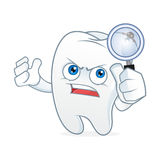Талисман шаржа зуба имел toothache Стоковые Фотографии RF