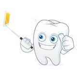 Талисман шаржа зуба фотографируя Стоковые Фотографии RF