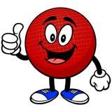 Талисман Dodgeball с большими пальцами руки вверх иллюстрация вектора