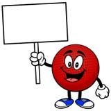 Талисман Dodgeball с знаком бесплатная иллюстрация