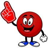 Талисман Dodgeball с пальцем пены иллюстрация штока