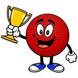 Талисман Dodgeball с трофеем иллюстрация вектора
