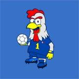Талисман Footbal француза Стоковое фото RF