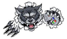 Талисман Gamer Esports волка животный Стоковая Фотография RF