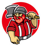 Талисман Lumberjack Стоковые Фотографии RF