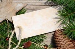 Талон рождественской открытки Стоковые Фото